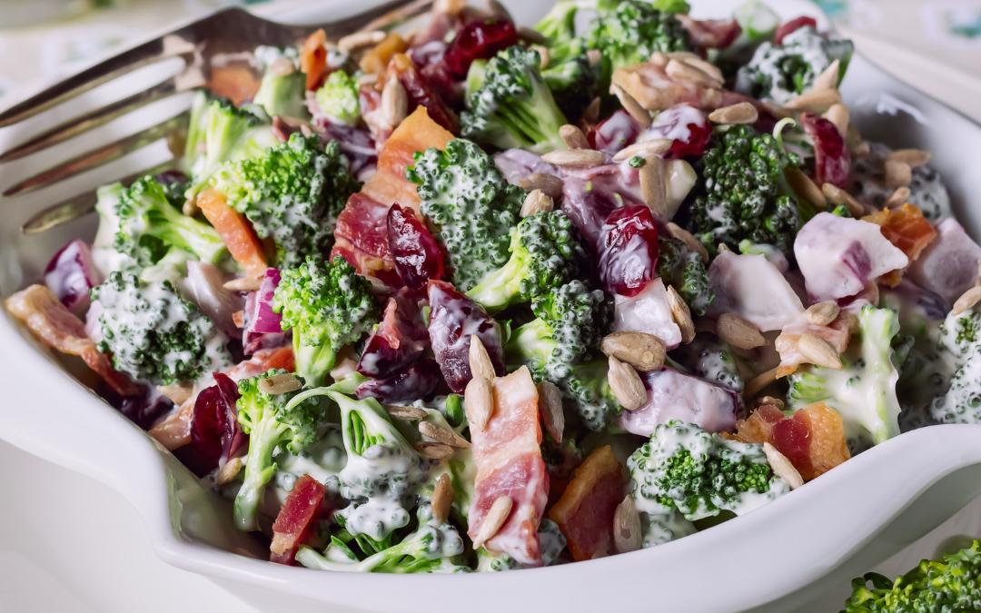 Dr. Ben's Dairy-Free Broccoli Salad with Bacon Recipe